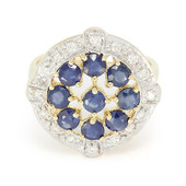 18K Blue Sapphire Gold Ring