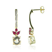 14K Brazilian Morganite Gold Earrings (de Melo)