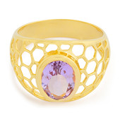 Rose de France Amethyst Silver Ring (MONOSONO COLLECTION)