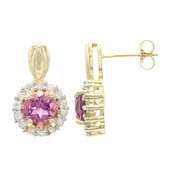 10K AAA Pink Tourmaline Gold Earrings