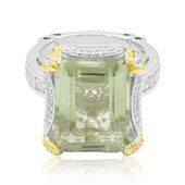 Green Amethyst Silver Ring (Dallas Prince Designs)