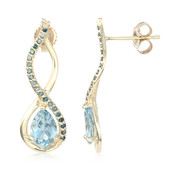 9K Santa Maria Aquamarine Gold Earrings