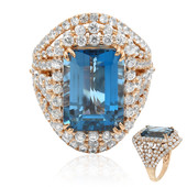 14K London Blue Topaz Gold Ring (Dallas Prince Designs)