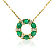 14K AAA Zambian Emerald Gold Necklace (CIRARI)