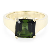 9K Green Tourmaline Gold Ring