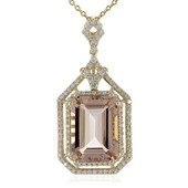14K AAA Madagascan Morganite Gold Necklace (de Melo)