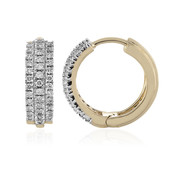 18K SI Diamond Gold Earrings (adamantes [!])