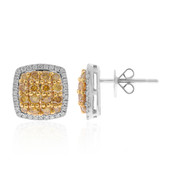 14K SI Orange Diamond Gold Earrings (CIRARI)