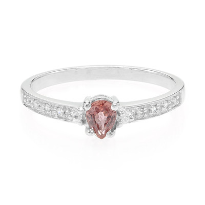 Padparadscha Sapphire Silver Ring (Cavill)