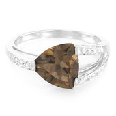 Smoky Quartz Silver Ring