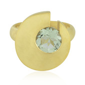 Green Amethyst Silver Ring (MONOSONO COLLECTION)