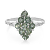 Unheated Green Sapphire Silver Ring (Cavill)