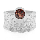Mozambique Garnet Silver Ring (MONOSONO COLLECTION)