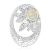 Rainbow Moonstone Silver Pendant (MONOSONO COLLECTION)