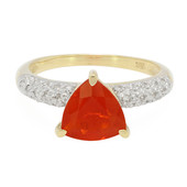 9K Salamanca Fire Opal Gold Ring