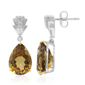 Champagne Quartz Silver Earrings (Remy Rotenier)