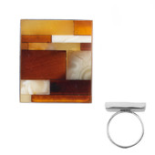 Baltic Amber Silver Ring