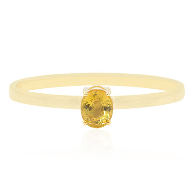 9K Yellow Sapphire Gold Ring