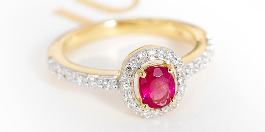 Ruby Gold Ring Popup