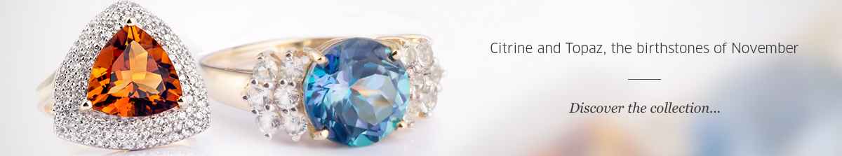 Birthstones of November: Citrine & Topaz at Rocks & Co.