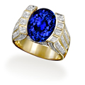 AAA Tanzanite Gold Ring