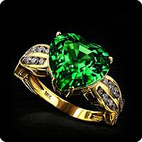 AAA Tsavorite Ring