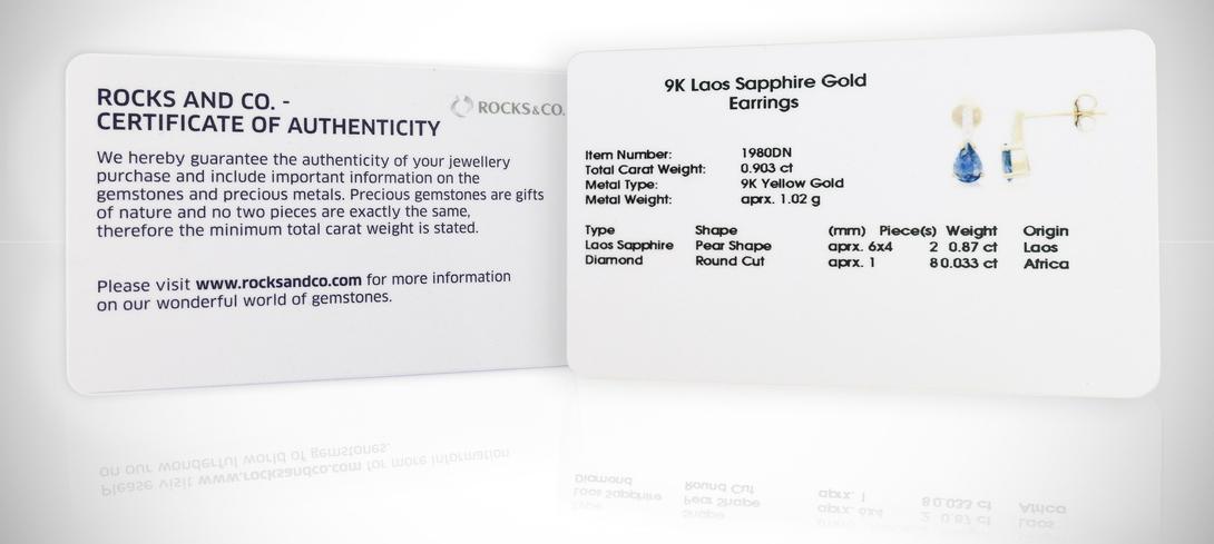 Authenticity Certificate Rocks & Co.