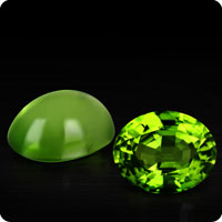 Chinese Peridots Cabochon and faceted