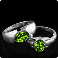 Chinese Peridot Rings