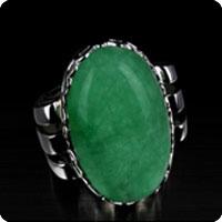 Jade 925 Silver Ring