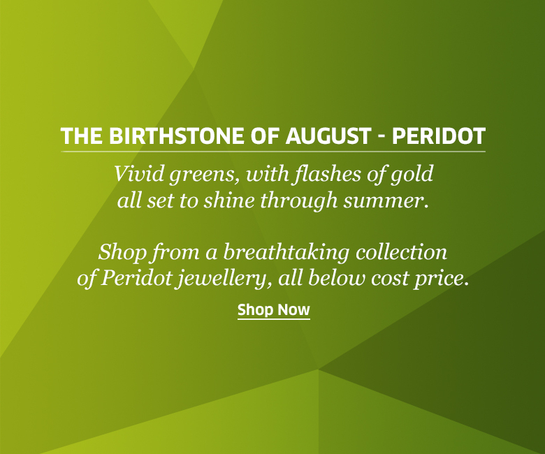 The Birthstone of August: Peridot at Rocks & Co. Outlet