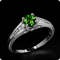 Russian Diopside Ring