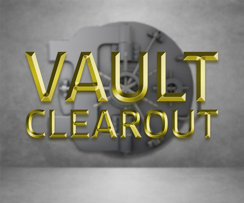Vault clearout at Rocks & Co.