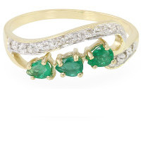 AAA brazilian emerald gold ring