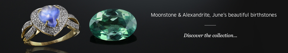 Birthstones June: Alexandrite and Moonstone at Rocks and Co.