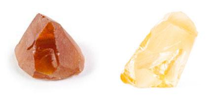 Raw crystal of a citrine quartz