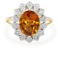Madeira citrin gold ring