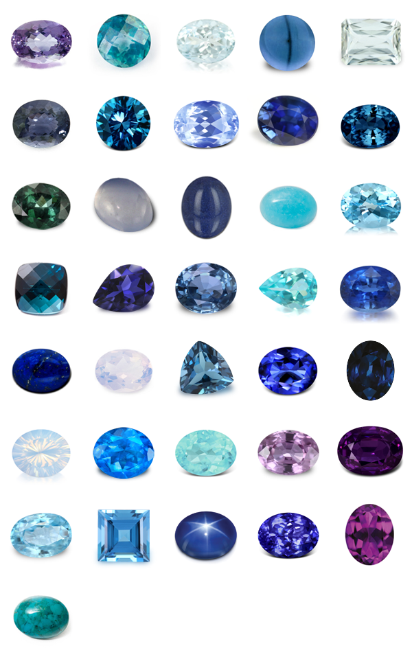 Blue to Violet Gems | Amethyst