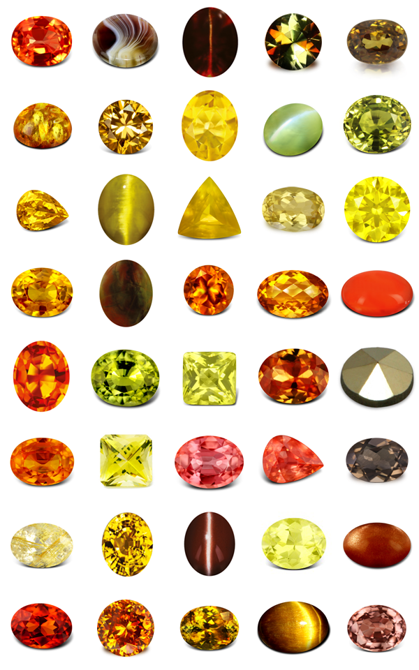 Yellow to Chocolate Gems | Agate